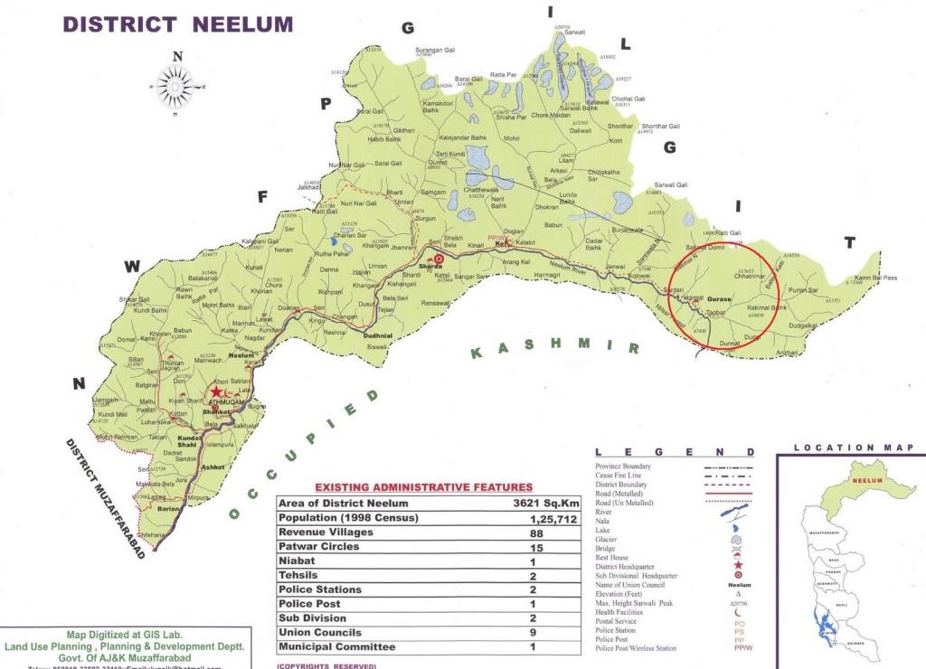 neelum valley tour map